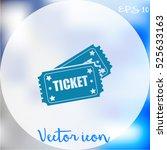 ticket icon | Shutterstock .eps vector #525633163