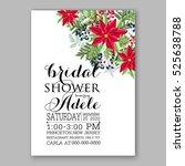 poinsettia winter wedding... | Shutterstock .eps vector #525638788