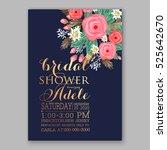 wedding invitation printable...   Shutterstock .eps vector #525642670