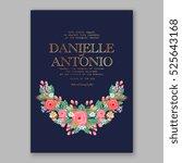 wedding invitation printable... | Shutterstock .eps vector #525643168