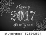 happy 2017 new year text design ... | Shutterstock .eps vector #525643534