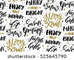 christmas seamless background... | Shutterstock .eps vector #525645790