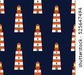 marine seamless vector pattern | Shutterstock .eps vector #525647494