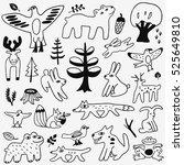 animals doodles | Shutterstock .eps vector #525649810
