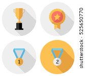 award icons . flat design style ... | Shutterstock .eps vector #525650770