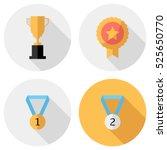 award icons . flat design style ... | Shutterstock .eps vector #525650770