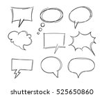 freehand drawing bubble speech... | Shutterstock .eps vector #525650860