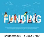 funding illustration of young... | Shutterstock . vector #525658780