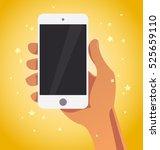 vector flat human hand holding... | Shutterstock .eps vector #525659110