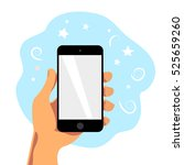 vector flat human hand holding... | Shutterstock .eps vector #525659260