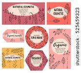 vector vintage template label... | Shutterstock .eps vector #525659323