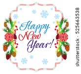 holiday label with greeting...   Shutterstock .eps vector #525663538