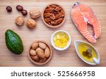 selection food sources of omega ... | Shutterstock . vector #525666958