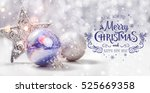 christmas decorations with fir... | Shutterstock . vector #525669358