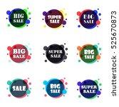 set of flat design sale... | Shutterstock .eps vector #525670873
