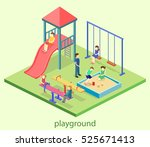 isometric flat 3d concept web... | Shutterstock .eps vector #525671413