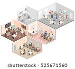 isometric flat 3d concept... | Shutterstock .eps vector #525671560
