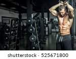 young fit attractive sexy man... | Shutterstock . vector #525671800