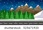 set of winter landscapes.... | Shutterstock .eps vector #525671920