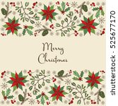 christmas and new year card... | Shutterstock .eps vector #525677170
