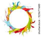 abstract color splashes in... | Shutterstock . vector #525677680