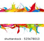 Abstract Color Splashes With...