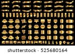 banner ribbon label gold vector ... | Shutterstock .eps vector #525680164