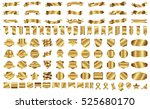 banner ribbon label gold vector ... | Shutterstock .eps vector #525680170