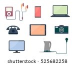 set of gadgets and consumer... | Shutterstock .eps vector #525682258