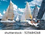 sailing yacht race. team... | Shutterstock . vector #525684268