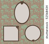 set of frames on a pistachio... | Shutterstock .eps vector #52568434