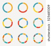 circle infographics concept... | Shutterstock . vector #525685309