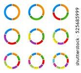 circular diagram set. pie chart ...   Shutterstock . vector #525685999