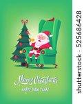 Cute Cartoon Santa Claus...