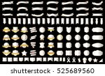 ribbon banner label silver... | Shutterstock .eps vector #525689560