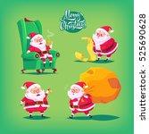 collection of cartoon vector... | Shutterstock .eps vector #525690628