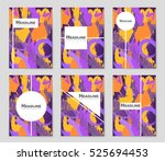abstract vector layout... | Shutterstock .eps vector #525694453