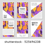 abstract vector layout... | Shutterstock .eps vector #525696238