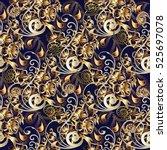 paisley seamless pattern.... | Shutterstock .eps vector #525697078