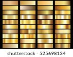 gold gradient background vector ... | Shutterstock .eps vector #525698134