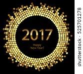 golden splash or glittering... | Shutterstock .eps vector #525701278