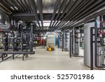 heating system of the building. ... | Shutterstock . vector #525701986