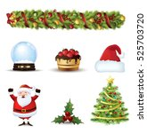 christmas icons set.vector... | Shutterstock .eps vector #525703720