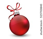 christmas ornament with red... | Shutterstock . vector #525703840