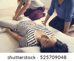 health wellness massage... | Shutterstock . vector #525709048
