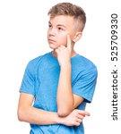 casual thinking guy   caucasian ... | Shutterstock . vector #525709330
