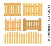 vector set from fence elements...   Shutterstock .eps vector #525715768