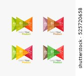 set of triangle layouts with...   Shutterstock .eps vector #525720658