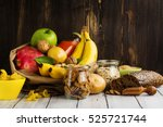 assortment of products rich of... | Shutterstock . vector #525721744