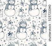 pattern of vector christmas...